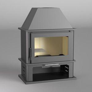 POÊLE À BOIS FM Poêle à bois acier M-108 12,5kW avec porte en f