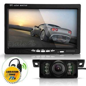"GPS AUTO AZTEK®7"" LCD Moniteur + Caméra de Recul 420TVL 120"