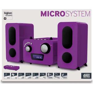 CHAINE HI-FI BIGBEN MCD11PMP3USB Micro Chaîne - CD/USB - Violet