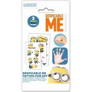 JEU DE TATOUAGE MINIONS Set Tattoos