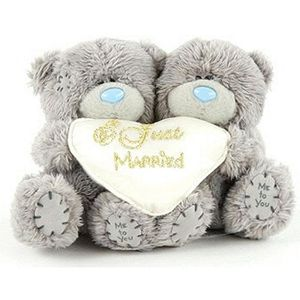 peluche me to you peluche ours just married 13x10cm u