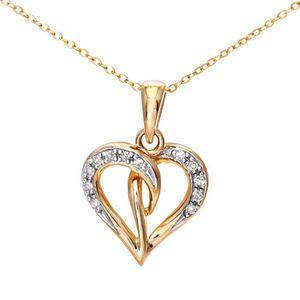 SAUTOIR ET COLLIER Revoni - Collier pendentif cœur en or jaune 9 cara