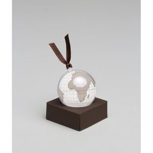 OBJET DÉCORATIF Etiquette Globe décor boule plexi x4