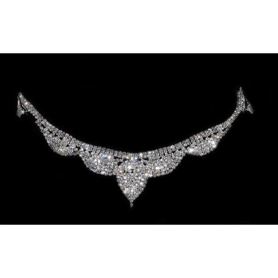Bijoux de Front Headband Strass Argent Pour Mariage Henné ou une Soirée