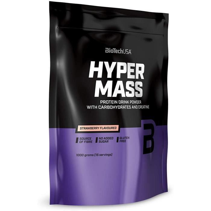 Hyper Mass Une boisson en poudre à base de glucides et de protéines avec de la créatine- source de fibres- sans sucre ajouté- [182]