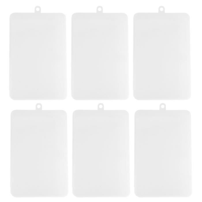 6 pièces support de stockage Simple mode Transparent Rectangle masque boîte de conteneur LUNETTES DE PLONGEE - MASQUE DE PLONGEE