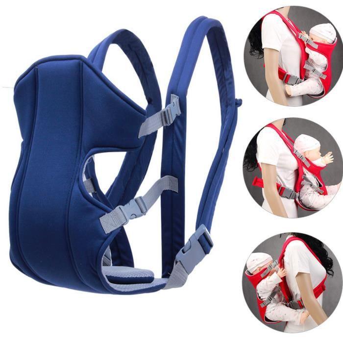 Nouveau-né Porte bébé réglable Sling Wrap Baby Carrier sac à dos Blue