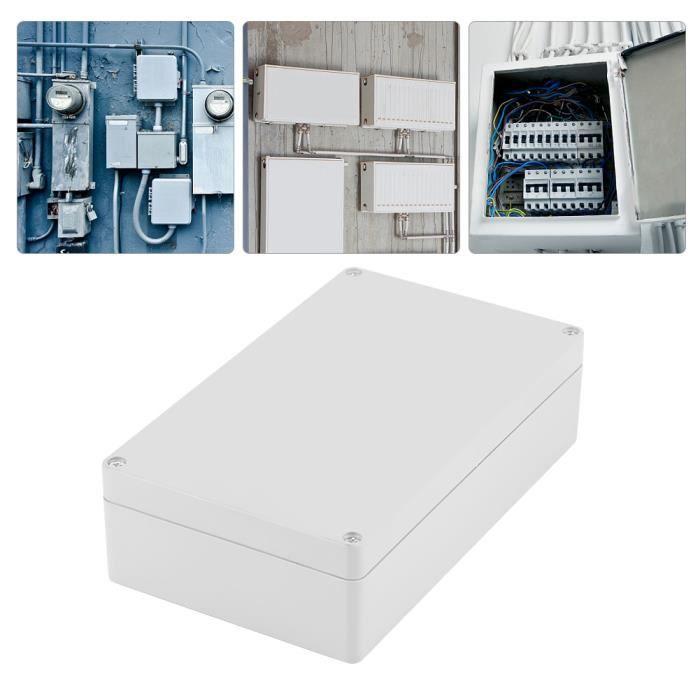 Boite de dérivation étanche IP65 , Boîte de jonction de câblage de boîtier de projet ABS étanche à l'eau , 20 x 12 x 5,5 cm -OLL