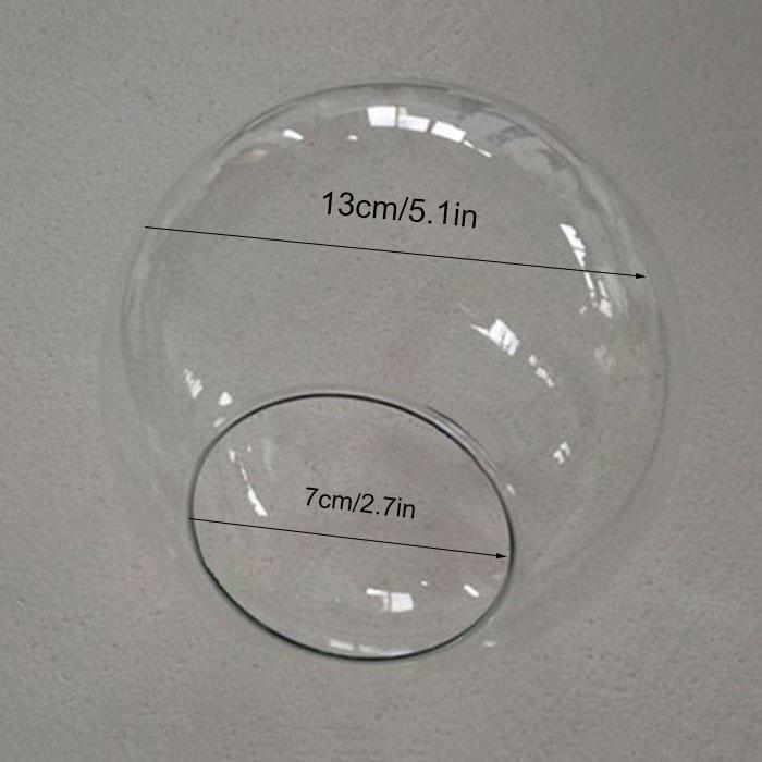 Abat-jour en verre transparent d13 cm d15 cm d20 cm, couvercle de lampe globe pour lustre suspendu, pièces d'ombre, [56C8DDB]