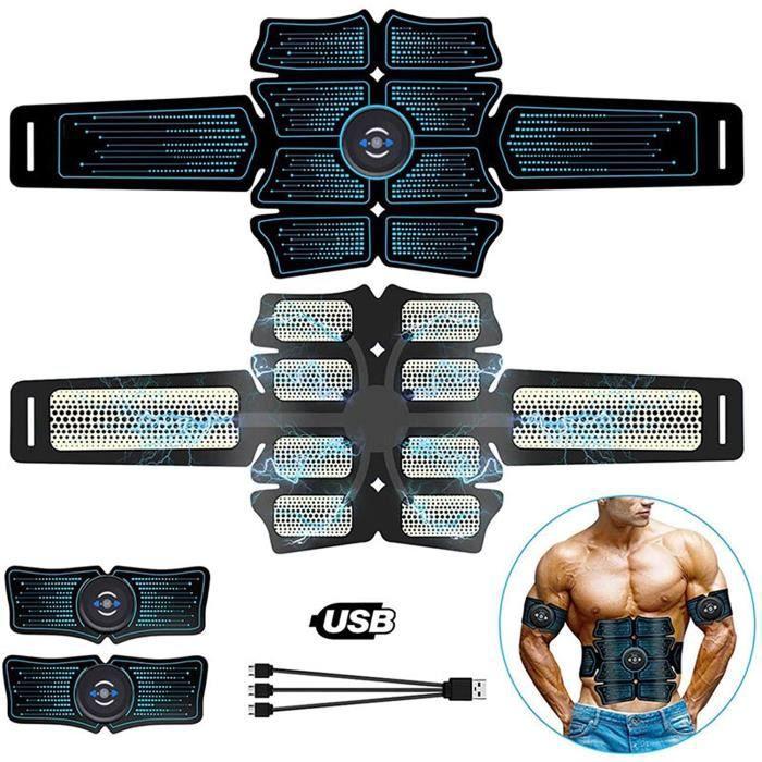 CEINTURE D'ELECTROSTIMULATION &Eacutelectrostimulation Abdominal Muscle Stimulateur De Muscle Entra&icircneur USB Vibrat ABS 195