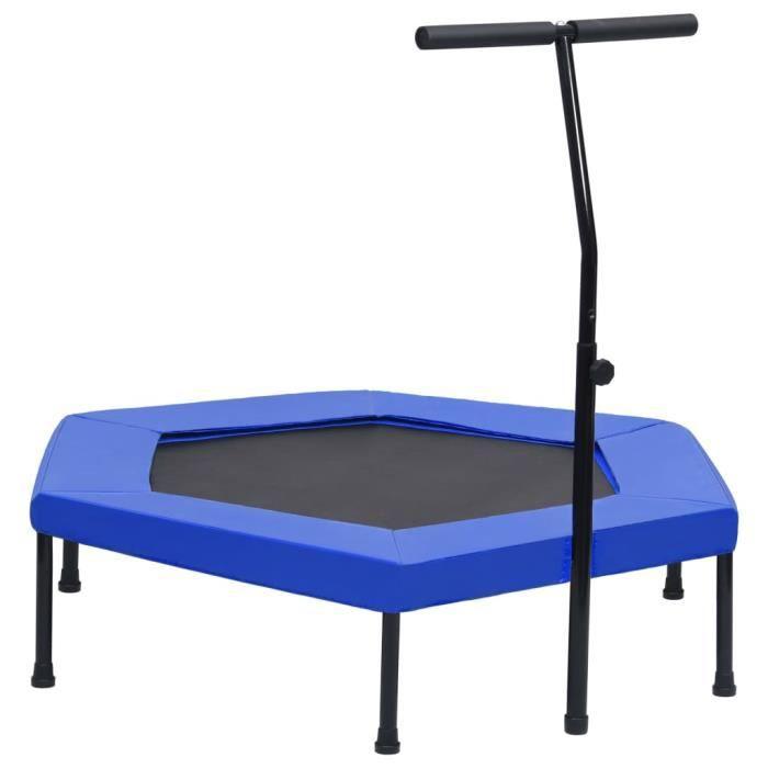 Trampoline avec poignée et coussin de sécurité hexagonal 122 cm