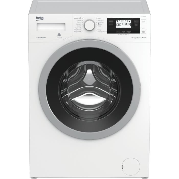 BEKO WMY1112430 - Lave linge frontal - 11kg - 1200 tours / min - A+++ / Moteur induction
