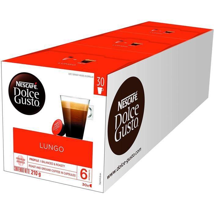 Nescafé Dolce Gusto Lungo - 90 Capsules (Pack de 3 boîtes XL x 30)
