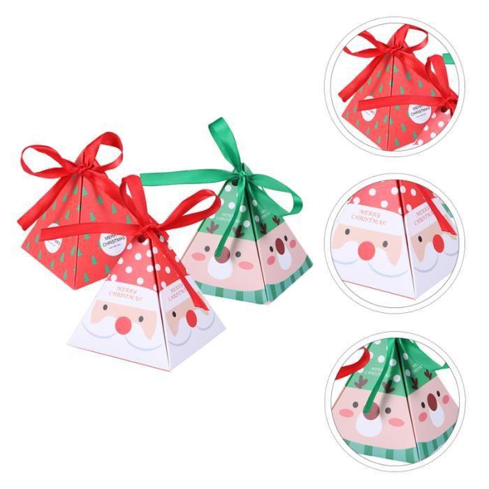 15 pcs Thème de Noël Boîtes de bonbons cadeaux décoratifs de bonbons cremeux confiserie chocolat