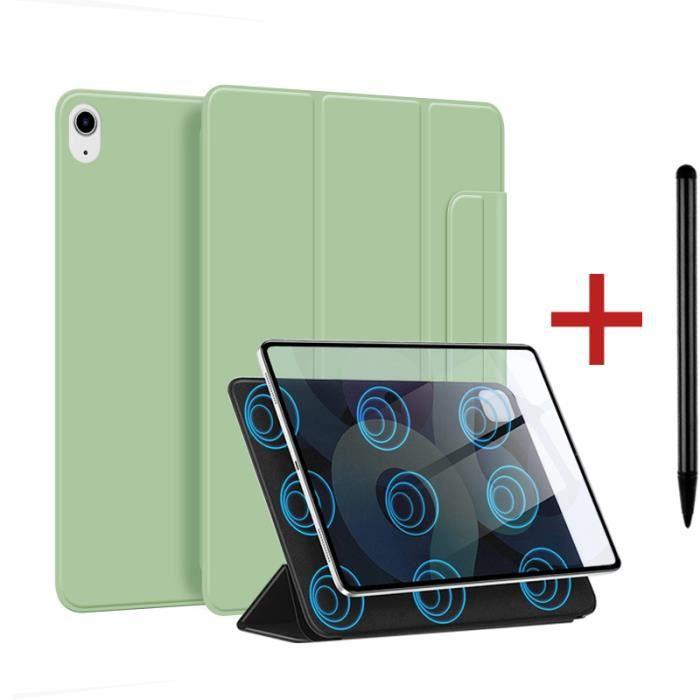 Coque iPad Air 4 2020 [ +Stylet ] Aimant Puissant Rassurant Magnétique Réveil/Sommeil Automatique Housse Case - vert
