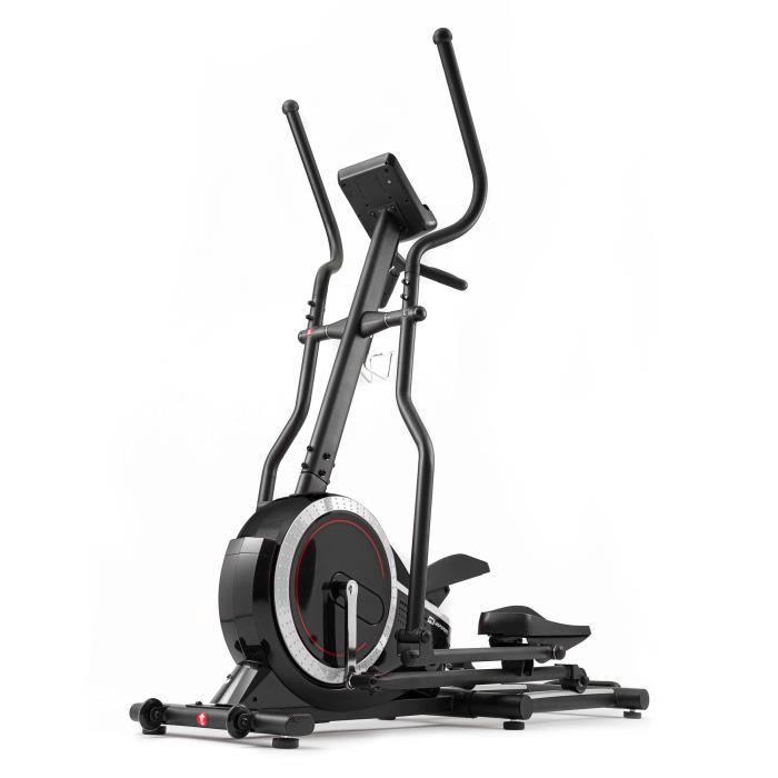 HS Hop-Sport Vélo elliptique HS-070C Buzz Argenté avec mesure de pouls, masse d'inertie de 18 kg, Capacité de charge jusqu'à 150