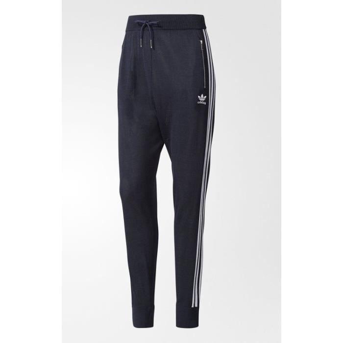 Adidas Pants 3-Stripes Drop Crotch Pantalon Femme Bleu