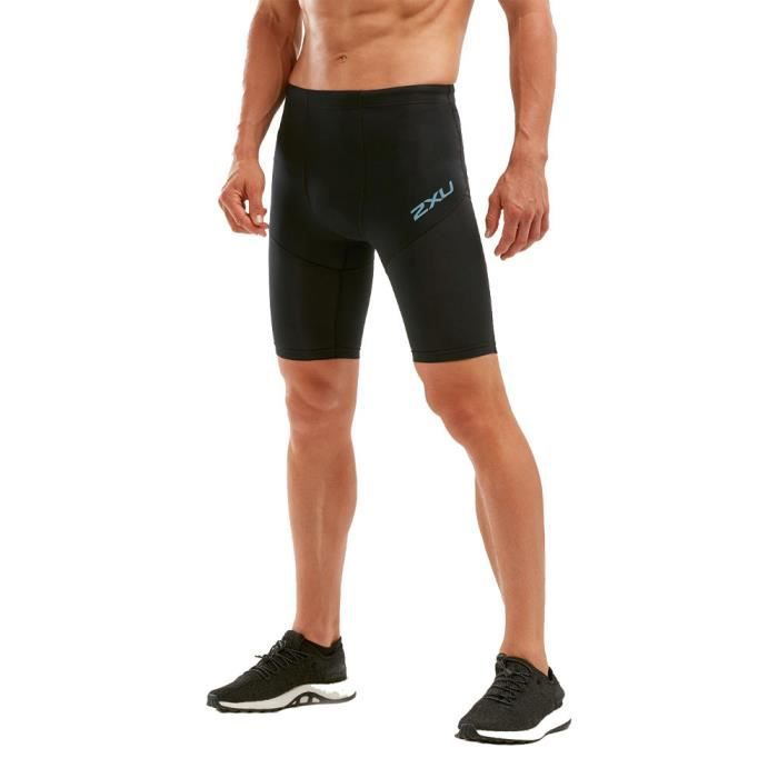 2XU Hommes Run Dash Compression Short Bermuda Sport Pants Trousers Bas De