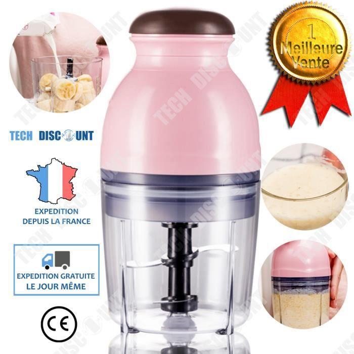 TD® Mixeur rose mélanger cuisine préparation portable blender multifonctionnelle électrique mélange alimentaire découper jus de frui