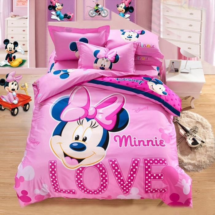 housse couette 200x200 minnie achat vente housse couette 200x200 minnie pas cher cdiscount. Black Bedroom Furniture Sets. Home Design Ideas