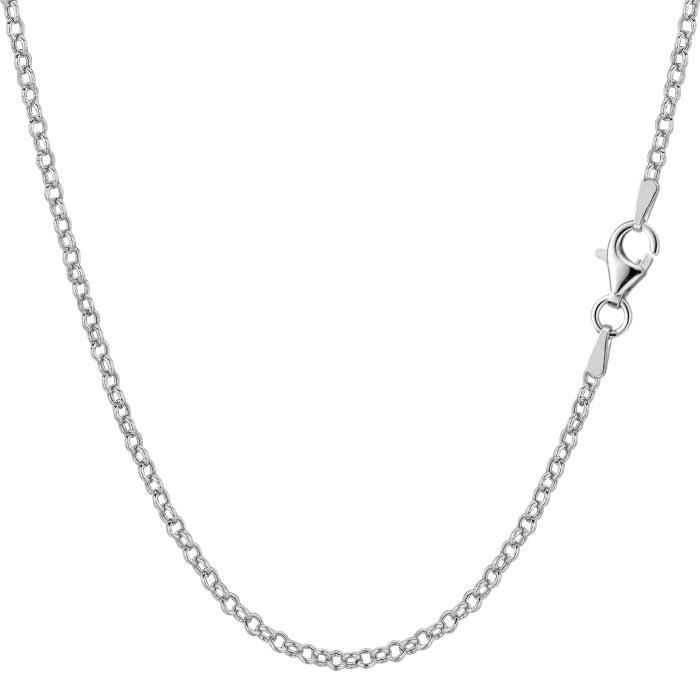 Collier- Argent sterling Rhodium plaquéRolo, 1, 8mm, 20