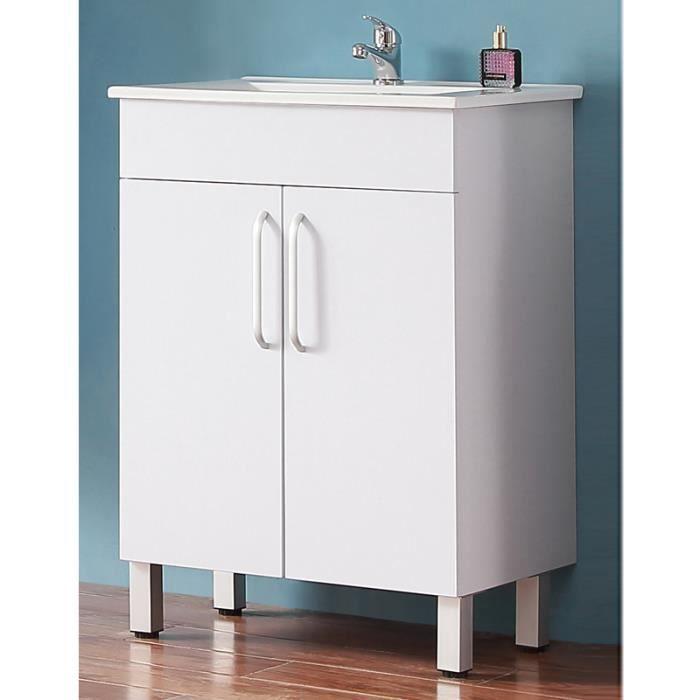 Meuble de salle de bain modèle de Anlovi 580x380x824mm Ensemble meuble et  vasque