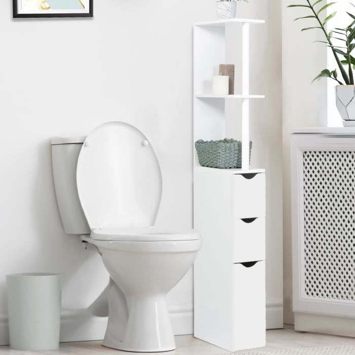 meuble wc bois blanc achat vente colonne armoire wc. Black Bedroom Furniture Sets. Home Design Ideas