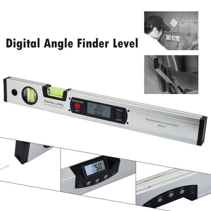 Niveau Digital à Ecran LCD en Inox 360 Degrés