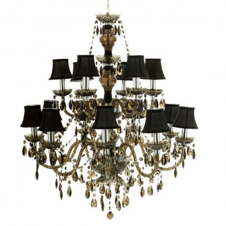 muno chandelier romeo 15 branches muno noir achat vente chandelier romeo 15 branches. Black Bedroom Furniture Sets. Home Design Ideas