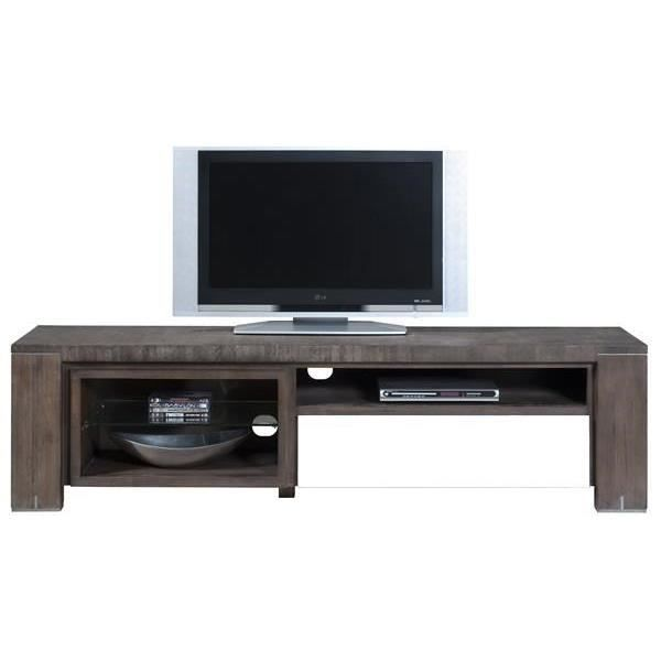 meuble tv 190 cm acacia massif cataluna h h achat vente meuble tv meuble tv 190 cm acacia. Black Bedroom Furniture Sets. Home Design Ideas