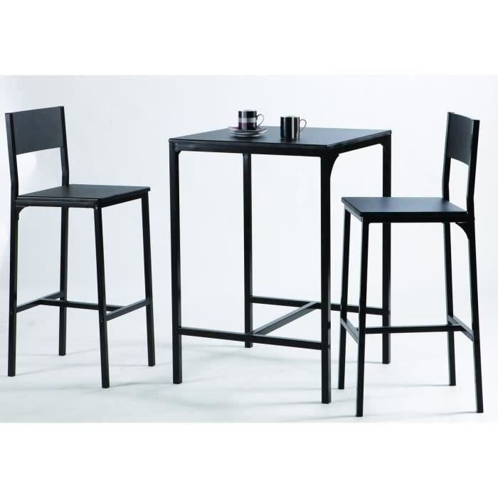kool ensemble table bar en m tal et mdf 2 personnes 60x60. Black Bedroom Furniture Sets. Home Design Ideas
