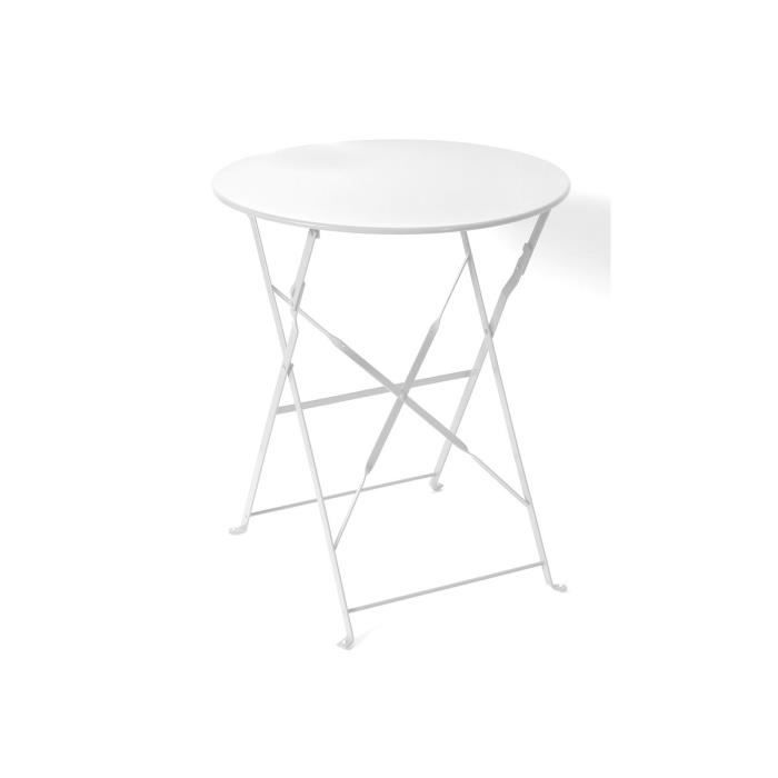 Table ronde camargue pliante 60 cm blanche hesp ride - Table ronde 180 cm combien de personnes ...