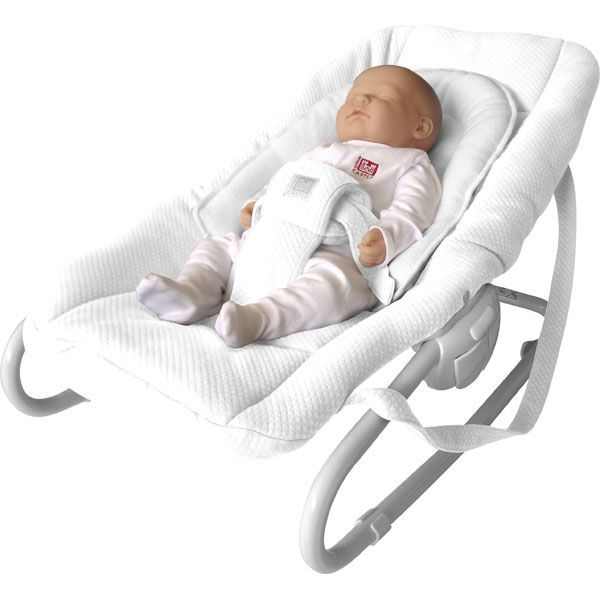 Transat bebe evolutif red castle blanc achat vente for Housse transat beaba