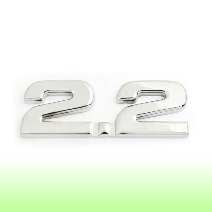 sourcingmap/® Empire Merchandising 2.0 en alliage pour voiture Embl/ème Badge 3D D/écoration Argent/é