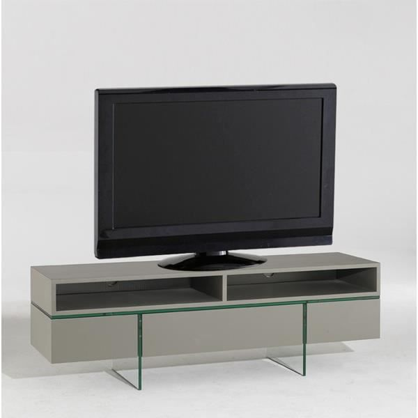 meuble tv delta 3 tiroirs 2 niches taupe achat vente meuble tv meuble tv delta 3 tiroirs 2. Black Bedroom Furniture Sets. Home Design Ideas