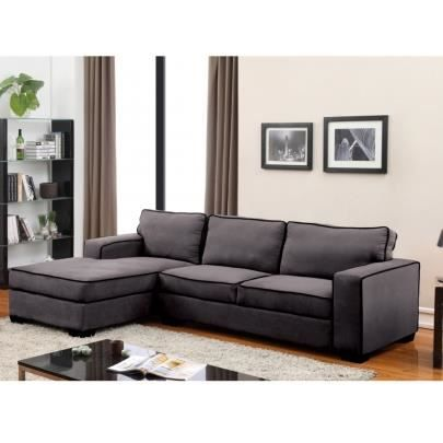 canap d 39 angle en microfibre halifax gris passep achat vente canap sofa divan cdiscount. Black Bedroom Furniture Sets. Home Design Ideas