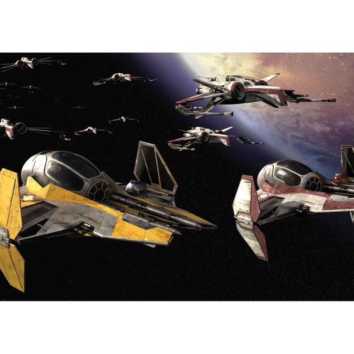 papier peint star wars 146 x 208 cm – fresque murale revenge of the