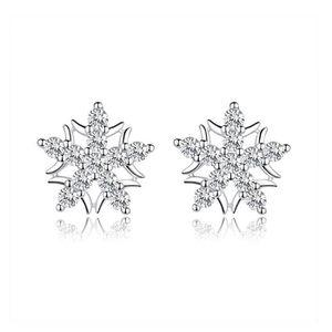 Boucle d'oreille Boucles d'oreille NI2KF 925 argent flocon de neige