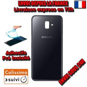 COQUE KIT VITRE ARRIERE DOS Samsung Galaxy J6 PLUS J610 NEUF NOIR ...