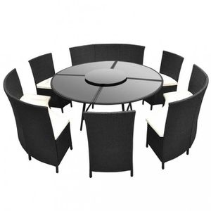 Stunning Table De Jardin Ronde Noire Photos Awesome Interior Home Satellite