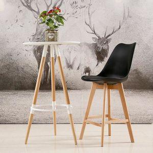 TABOURET DE BAR Lot de 2 chaises Hautes - Scandinave style - Noir