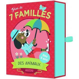 CARTES DE JEU Jeu de 7 familles des animaux aille Unique Coloris
