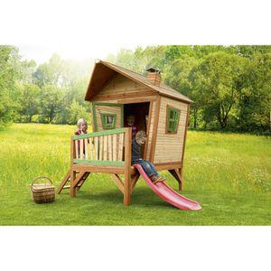 BALANÇOIRE - PORTIQUE AXI Maisonnette Enfant IRIS - Cabane en bois - 277
