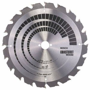 ACCESSOIRE MACHINE Bosch 2608640691 Lame de scie circulaire Construct