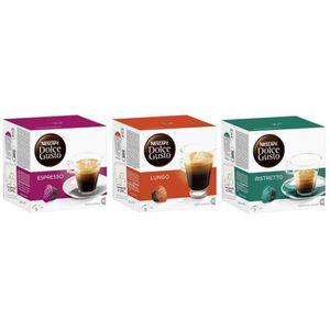 CAFÉ Nescafé Dolce Gusto Capsules Espresso + Lungo + Ri
