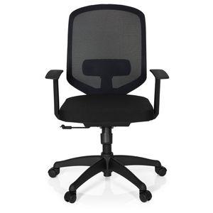 CHAISE DE BUREAU Chaise de bureau DELIGHT tissu maille noir hjh OFF