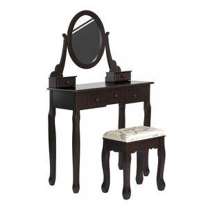 COIFFEUSE Homy Casa Coiffeuse Table de Maquillage Baroque av