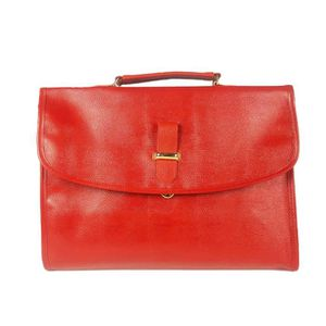 ATTACHÉ-CASE Serviette porte-documents simili cuir rouge