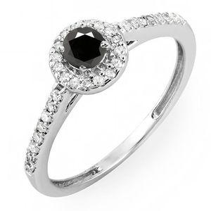 BAGUE - ANNEAU Bague Femme Diamants 0.50 ct  10 ct 471-1000 Or Bl