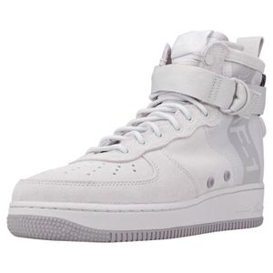 BASKET Nike Sf Air Force 1 Mid Homme Baskets Gris clair